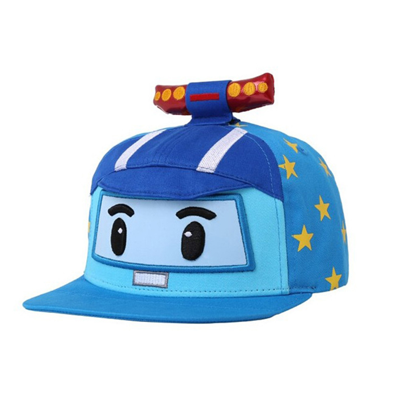 Robocar Poli (Non-Deformation)  Baby Baseball Cap Children Hats  Lovely Summer Hat Kids 100%cotton Caps