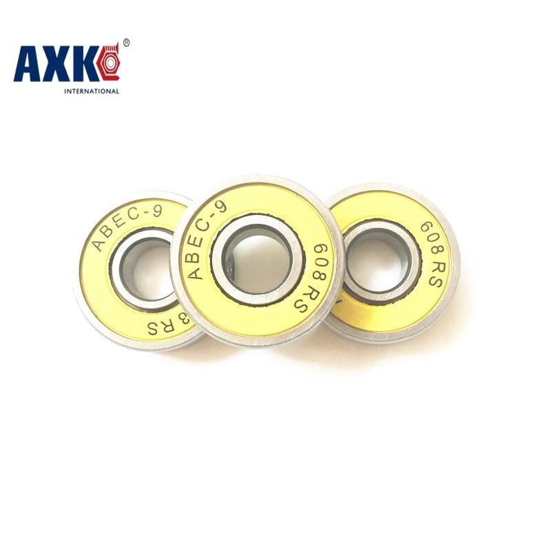 Free Shipping ABEC-9 6082rs 22*8*7mm Drift Skateboard Bearings for Roller Skates ball bearing 608-2rs Yellow Rubber Seals все цены