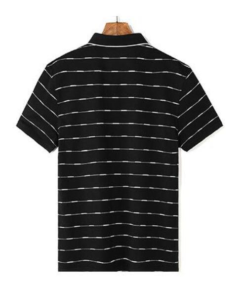 2019 Nuovi Uomini di Alta Qualità T Shirt di Seta degli uomini di Estate manica Corta tshirt Uomo di Seta Cotone t degli uomini della camicia camicia di affari nera - 2