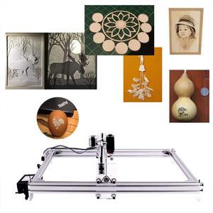 Image 5 - עבודה אזור 40cm x 50 cm, 500 mw/2500 mw/5500 mw לייזר cnc מכונת, שולחן העבודה DIY ויולט לייזר חריטת מכונה תמונה CNC מדפסת