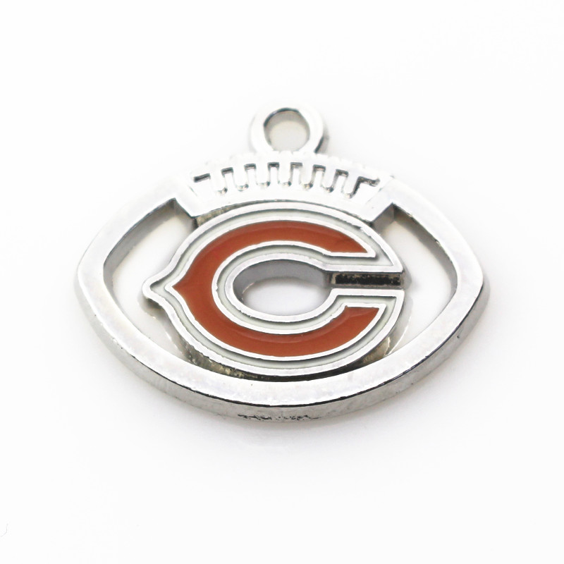 Hot selling 20pcs/lot Chicago Bears Dangle Charms American Football Sports Charms Diy Jewelry Accessory Hanging Charms ...