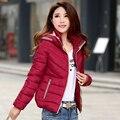 Женщины Зимние Пальто Короткий Стиль С Длинным Рукавом С Капюшоном Куртки И Пиджаки Пальто Мода Женщин Зимняя Куртка