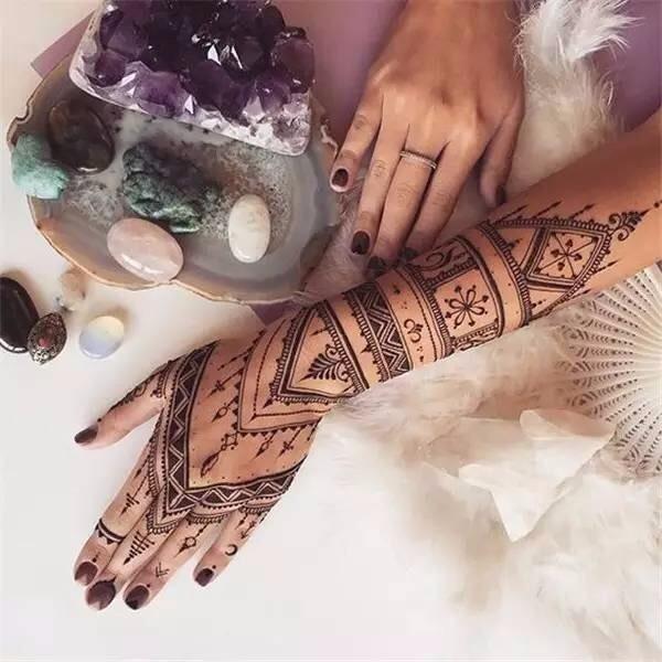 1Pc Black Henna Tattoos Indian Temporary Tattoo Ink Hand Arm Leg Body Art Tattoo Paint Paste YE3 7