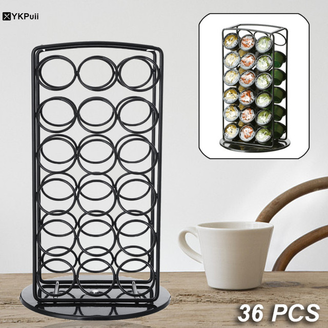 36coffee Pod Holder Tower Stand Rack Storage Cup Capsule Coffee Capsules Hold Kitchen 180x180x305mm