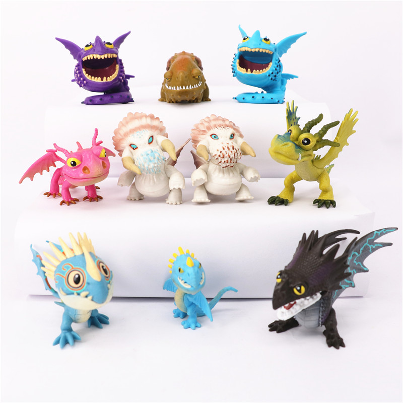 10pcs/lot How To Train Your Dragon Action Figure Toy PVC 3-6cm Monster Dragons Toothless Anime Brinquedos Kids Toys Dinosaur laser head sf 860 sf hd860