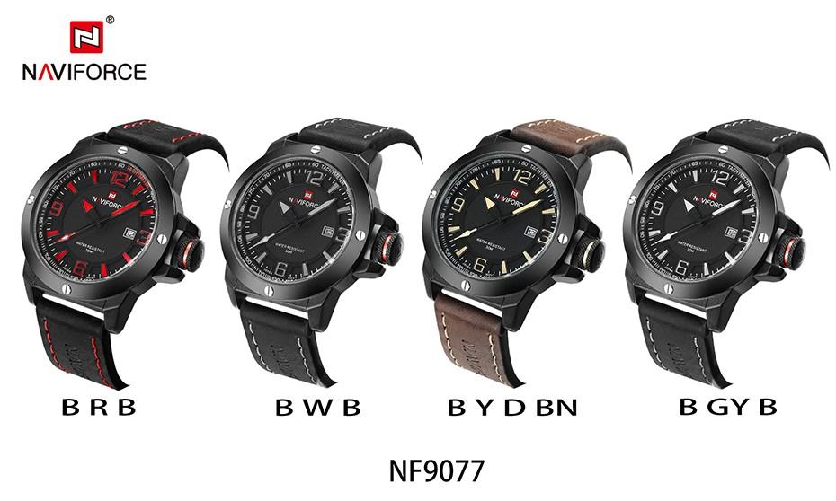 2017 Nouveau Luxe Marque Naviforce Hommes Classique Militaire Montres Hommes de Quartz Date Horloge Homme Poignet Montre de Sport Relogio Masculino 17