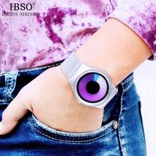 IBSO Unique Design Stainless Steel Mesh Band Women Clock Quartz Wristwatches Rotating Time Relogio Feminino 2017 Watches