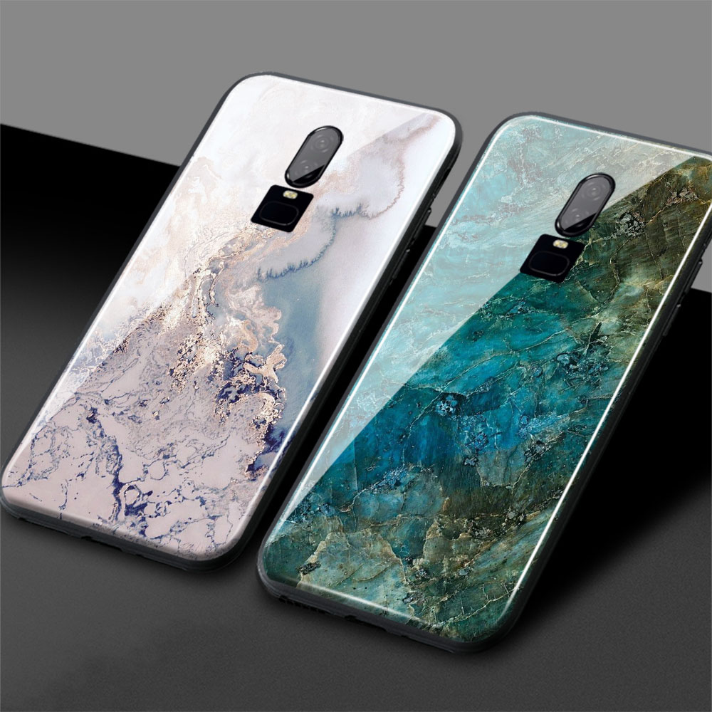 brand new 26639 fde06 US $4.04 19% OFF|One Plus 6T Marble phone cover one plus 6 Jade pattern  1+6T Glossy Tempered Glass back cover Phone Case Shell For OnePlus 6 6T-in  ...