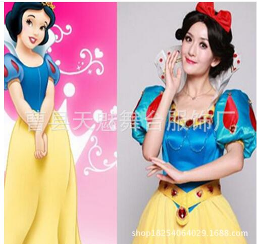 S L halloween 110 130cm dress kid child snow white princess cosplay carnival party costume girl role playing set