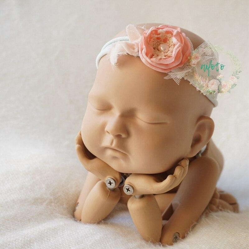 Детские цветочные повязка, Новорожденные повязки, Детские волосы луки группа аксессуары новорожденных Фотография Опоры flokati новорожденных...
