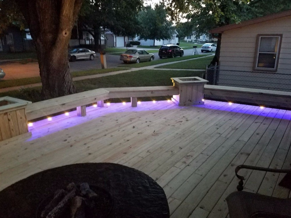 Image 5 - 10pcs/Set 45mm Outdoor Garden Landscape Stair Pathway Kickboard Recessed 12V Kitchen LED Deck Rail Step Soffit Lights-in LED Underground Lamps from Lights & Lighting