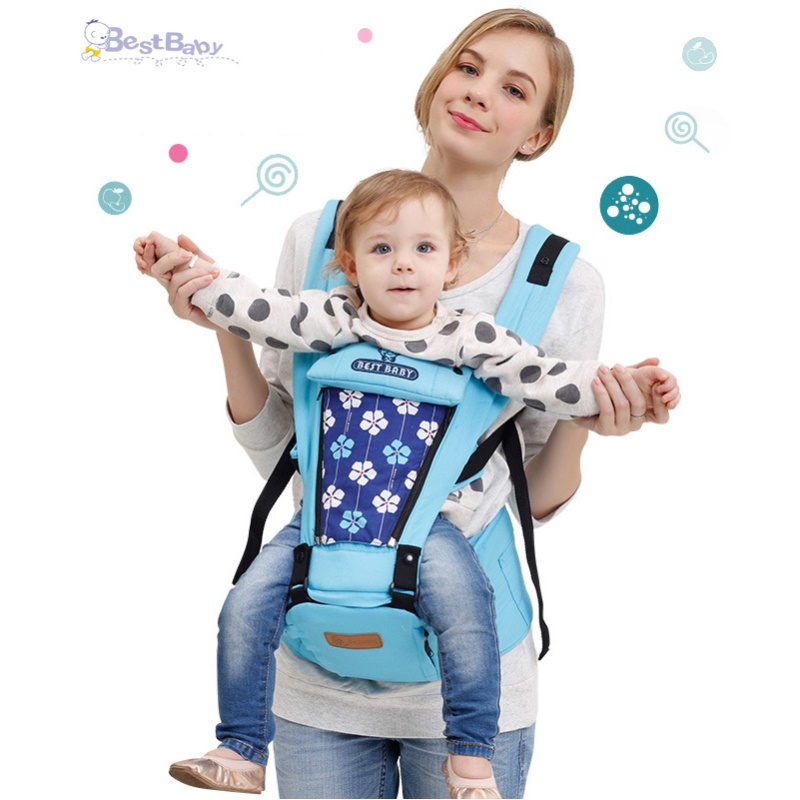 Best Baby 3-36 Months Baby Carrier Backpack Pure Cotton Waist Stool Hipseat for Baby Child 6 in 1 Carry Style Kids Sling multifunction backpack for baby infant comfort hipseat front carrier sling for children strap baby waist stool chicco mambo