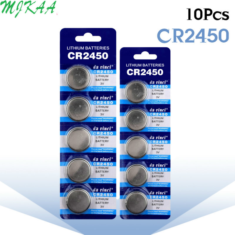 10pcs/pack CR2450 Button Batteries KCR2450 5029LC LM2450 Cell Coin Lithium Battery <font><b>3V</b></font> <font><b>CR</b></font> <font><b>2450</b></font> For Watch Electronic Toy Remote image