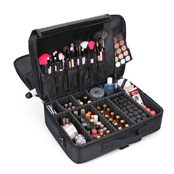 цены DLYLDQH Women High Quality Professional Makeup Organizer Large Capacity Waterproof Portable Cosmetic Beauty Manicure Storage Bag