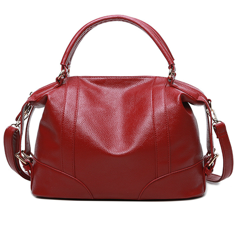 MONNET CAUTHY Bags Women Concise Leisure Office Lady Fashion Handbags Solid Color Wine Red Sky Blue Brown Black Large Totes Bag dd001263 fashion stylish women lady girls short red wine color cosplay wigs cap as gift