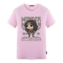 Wonder Woman Druck Mode t-shirt Männer Frauen Kurzarm Super hero Baumwolle Top-stücke T-shirt S-5XL