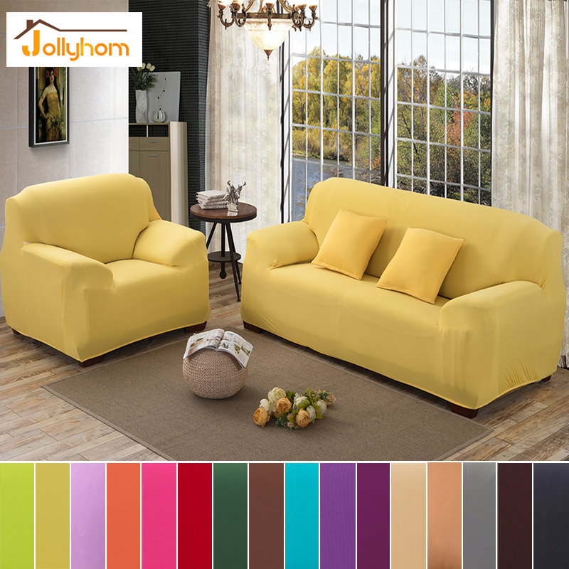Aliexpress 16 Colors Solid Color Sofa Cover Elasticity Flexible Spandex Material Towel Full Body Loveseat Corner 1pc From