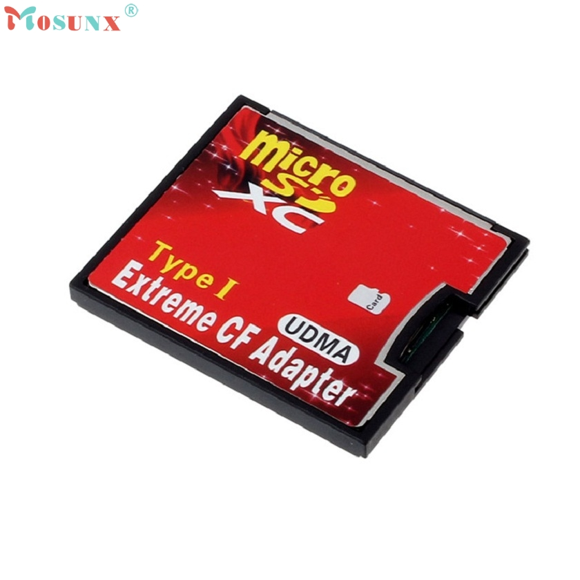 Adroit New Micro SD TF SDHC To Type I 1 Compact Flash CF Card Reader Adapter 30S7327 drop shipping compact flash cf to pc card pcmcia adapter cards reader for laptop notebook z17 drop ship