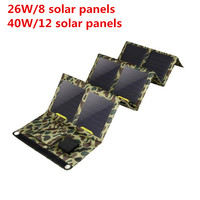 Outdoors SunPower 40W Solar Cells Charger USB*2 Devices Portable Solar Panels for Smartphones Laptop
