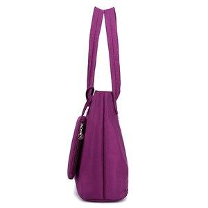 Image 3 - Оксфордская Большая вместительная длинная сумка через плечо, сумка тоут для покупок, пляжная сумка с верхней ручкой, Женский комплект 2 шт., дизайнерские нейлоновые сумки