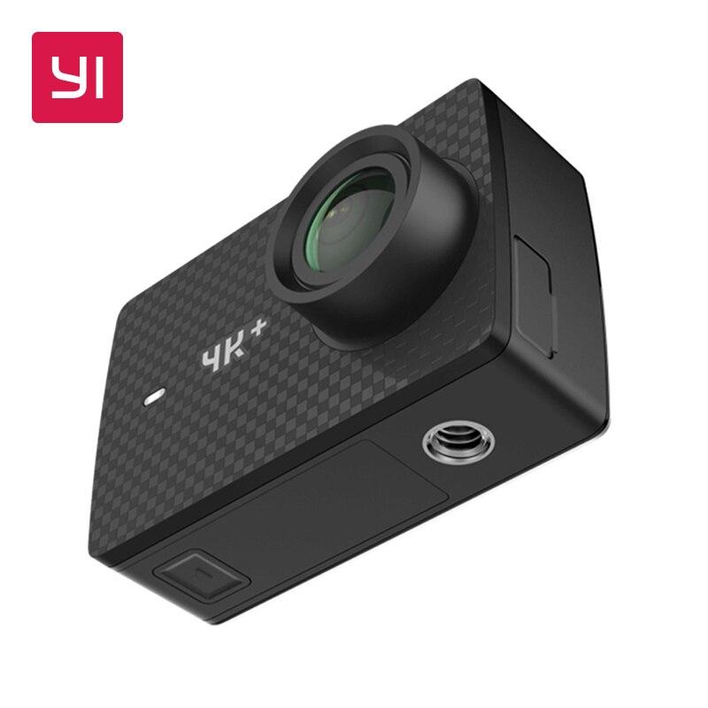 YI 4 K + (плюс) действие Камера только международное издание первого 4 K/60fps Амба H2 SOC Cortex-A53 IMX377 12MP CMOS 2,2 НРС Оперативная память WI-FI