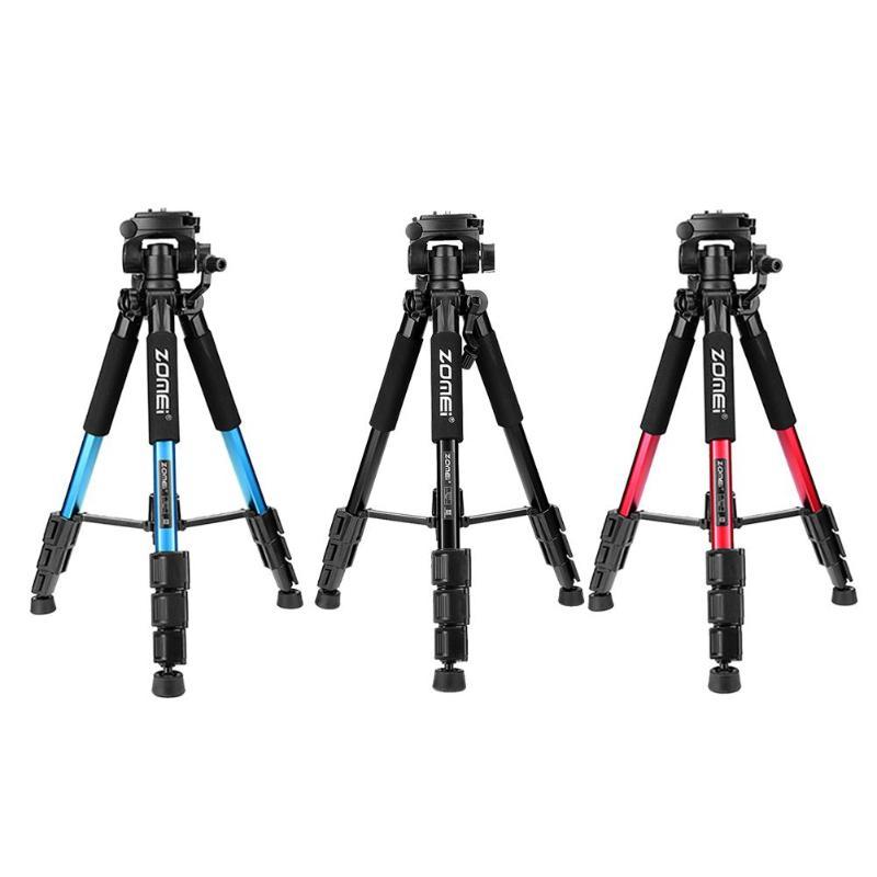 цена на Zomei Camera Tripods Q111 Professional Portable Travel Aluminum Camera Tripod Pan Head for SLR DSLR Digital Camera High Quality