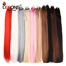 Leeons 25Strands/Pcs Pre Loop Hair Extension Crochet Braid J