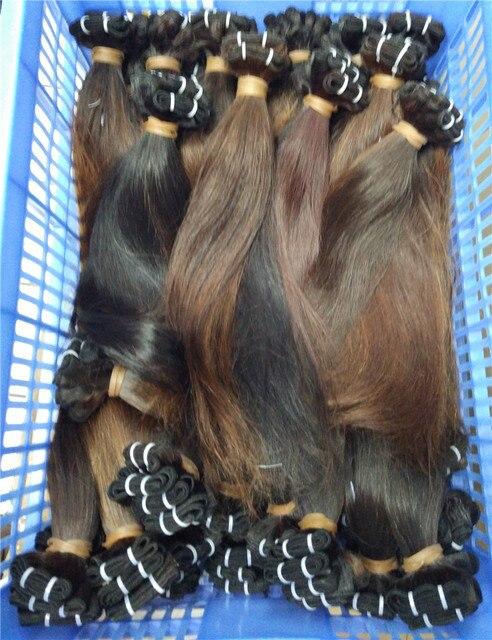 Заводская цена 150 ПУЧКИ волос оптовая 7А необработанные мокко Бразильский виргинский прямые человеческие натуральных волос weave расширения 3 килограмм