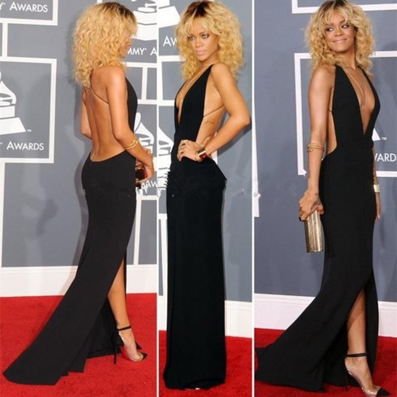 Black Rihanna red carpet Dress...