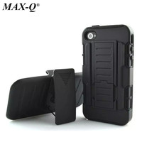 Cool Military Impact Rugged Hybrid Case For Iphone 4s Heavy Duty Kickstand Hard Back Cover 4S