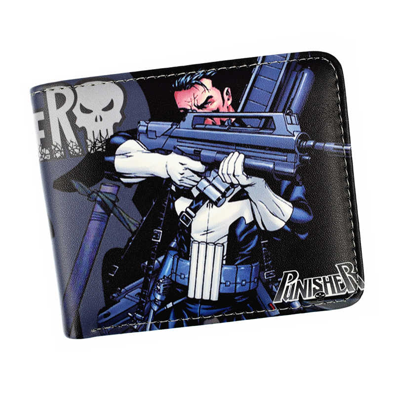 FVIP New Arrival Wallet Marvel Hero Punisher /Deadpool /X-Man Purse Shield Wallet With Coin Purse