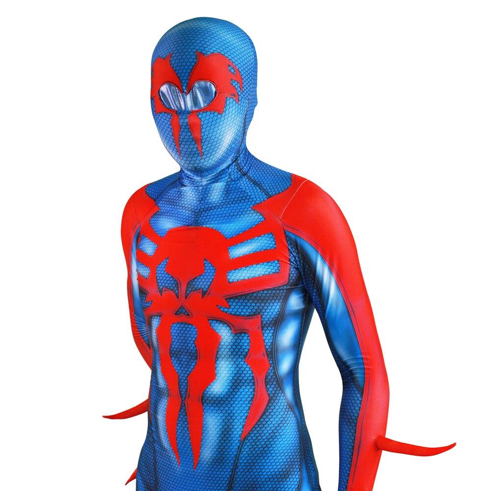 Spider Man 2099 Miguel O\'Hara Spideran Cosplay Costume Zentai Spider ...
