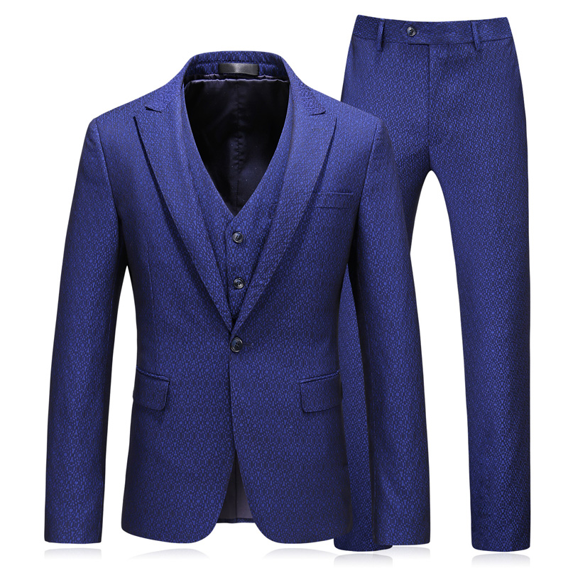 blazer vest pants high end luxury slim groom dress business British wind print Plus size Asian size S 5XL in Suits from Men 39 s Clothing
