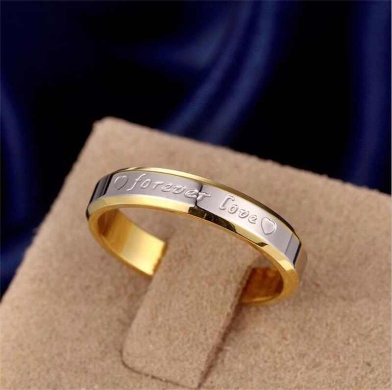 LMNZB Size5-12 Completo 100% Totalmente Pura Prata/Cor de Ouro Anel de Dedo Da Forma Das Mulheres Anéis de Noivado Casamento Jóias Finas LR095