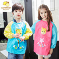 0-11 Years Old kids long sleeve anti dirty cartoon bib overclothes burp baby eating clothes children drawing and painting Apron