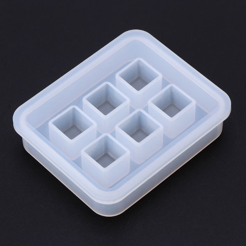Silicone Mold 12mm 3D Cube DIY Desk Decoration Jewelry Making Pendant Tools Handmade Gifts Crafts Epoxy Resin Molds