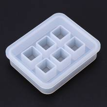 Silicone Mold 12mm 3D Cube DIY Desk Decoration Jewelry Making Pendant Tools Handmade Gifts Crafts Epoxy Resin Molds(China)