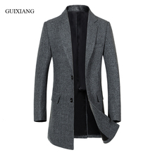 New arrival winter style men boutique woolen overcoat business casual single breasted men's plaid slim wool trench dress M-3XL