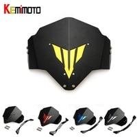 KEMiMOTO MT 03 FZ 03 Motorcycle Motorbike Windshield Windscreen For Yamaha MT03 FZ03 2015 2016 5