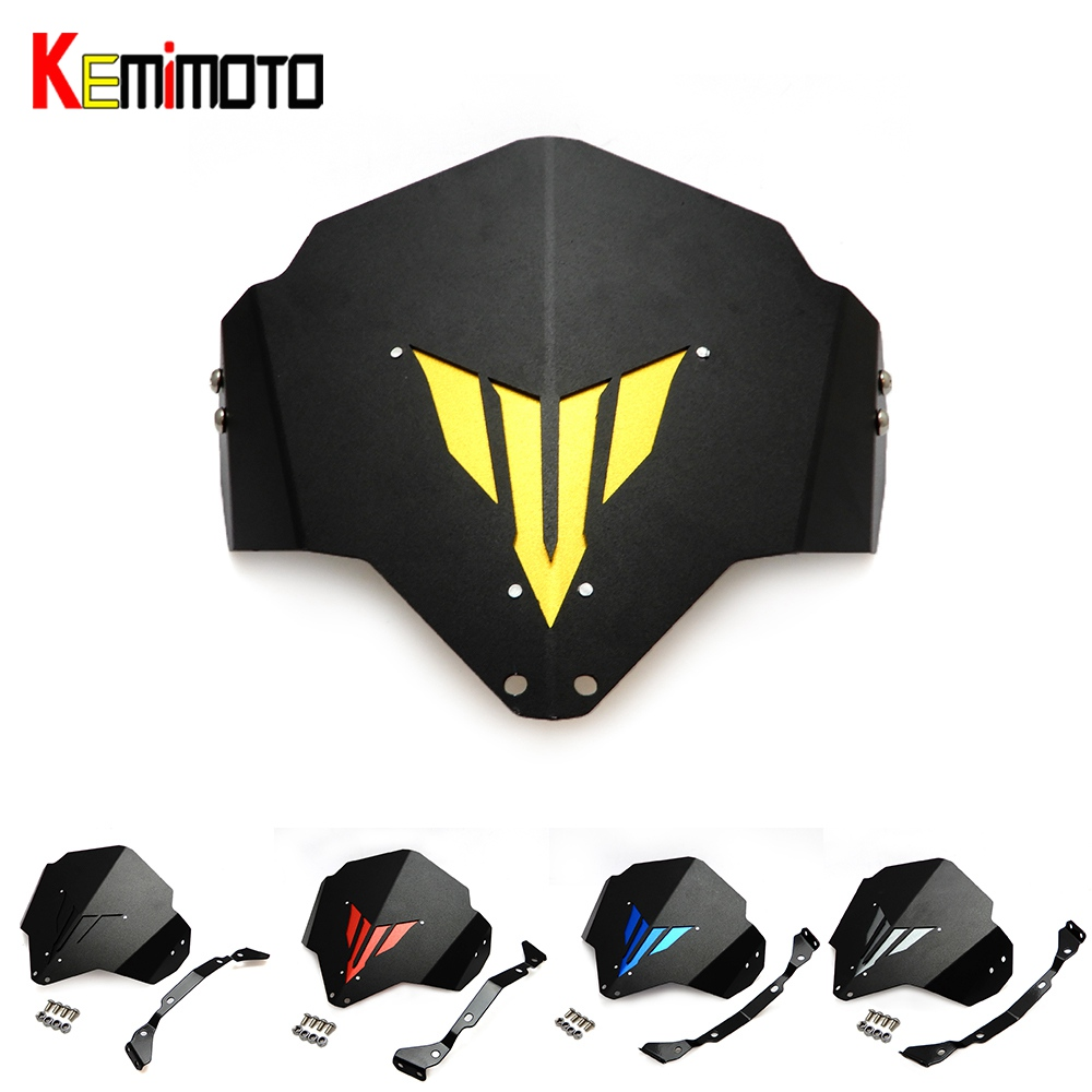 KEMiMOTO MT 03 MT-03 MT-25 Motorcycle Motorbike Windshield Windscreen For Yamaha MT03 FZ03 2015 2016 5 color FZ-03 100% new for yamaha mt 03 2015 2016 mt 25 2015 2016 mobile phone navigation bracket