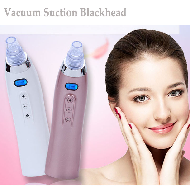 Electric Vacuum Suction Blackhead Acne Remover Facial Skin Cleansing Pore Cleaner Diamond Dermabrasion Skin Care Beauty Machine newdermo electric face beauty diamond dermabrasion machine blackhead vacuum remover