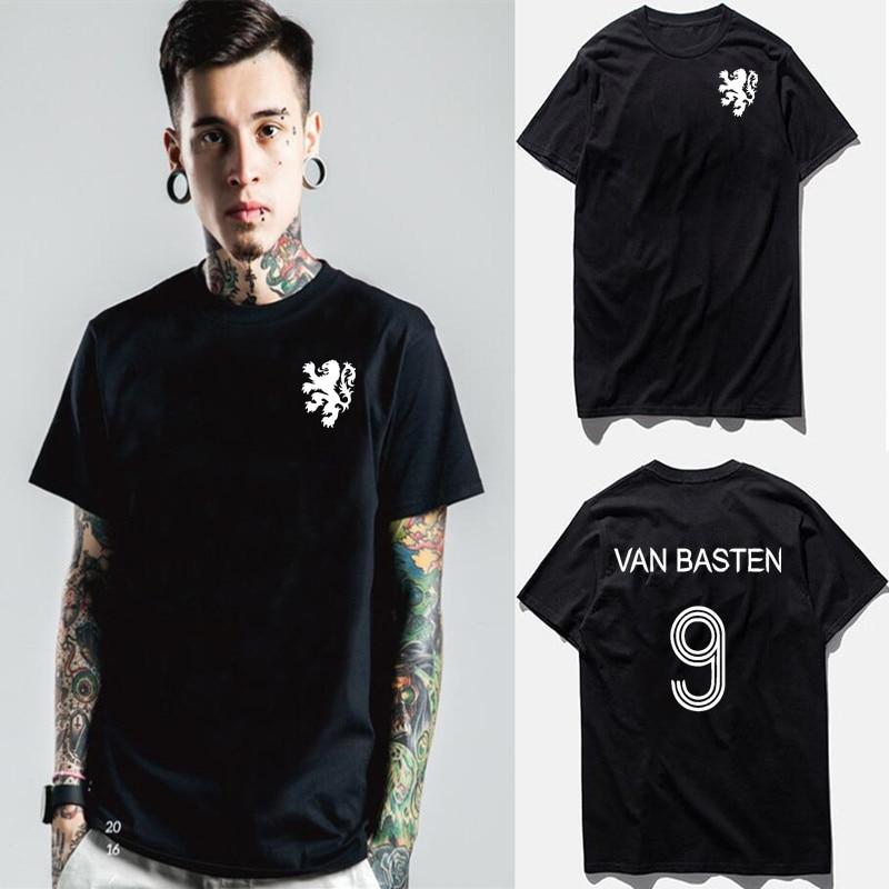 Van basten marco t-shirt s-xxxl holland légende football ac milan ajax 9 cruyff