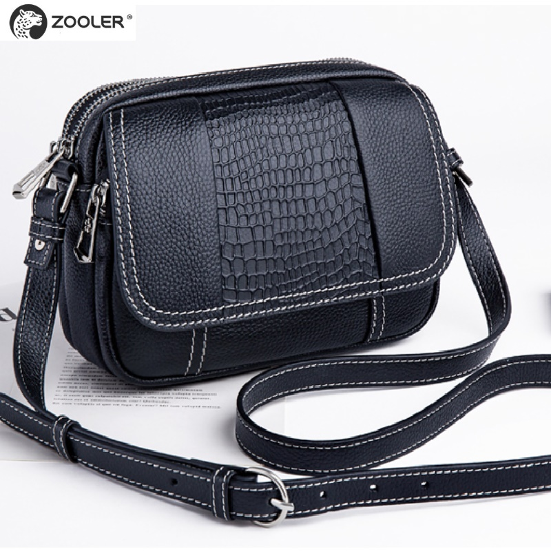 2019 fashion girl leather bags women ZOOLER Cow leather clutch bag women shoulder messenger bag designer