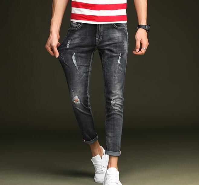 Freies Verschiffen Frühling Stilvolle Löcher Männer Jeans Auf Heiße Verkäufe