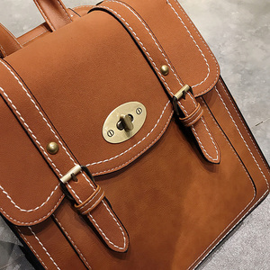 Image 5 - 2019 NEW Fashion Backpack 2pcs Set Women Backpack PU Leather School Bag Women Casual Style A4 Paper Women Backpacks Shoulder Bag