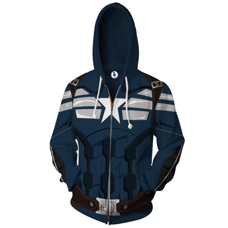 Avengers 3 Infinity War Captain America men 3d print Hoodies Streetwear Casual Cospaly Sweatshirt