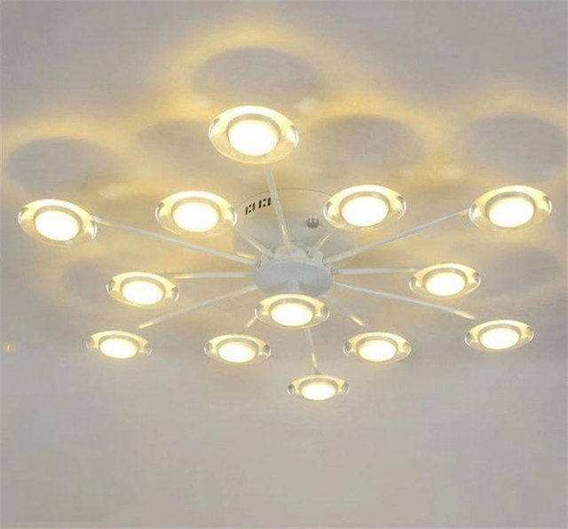 American living room ceiling lights led round bedroom art stars  segment remote control LED light