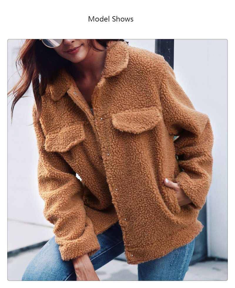 Spot Europe and the United States autumn and winter new style imitation fur foreign trade women plush coat leisure coat women (2)