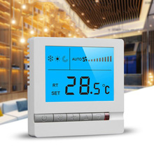 Programmable floor heating room temperature controller LCD three-speed switch panel universal controller