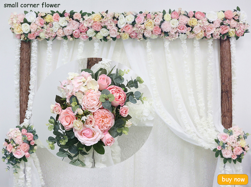 JAROWN Artificial 2M Rose Flower Row Wedding DIY Arched Door Decor Flores Silk Peony Road Cited Fake Flowers Home Party Decoration Maison (30)